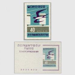 韓国 1960年電信75年