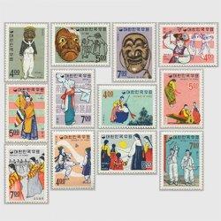 韓国 1967年民俗シリーズ12種