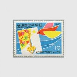 韓国 1975年国民福祉保険制度※少シミ