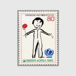 韓国 1990年ユニセフ