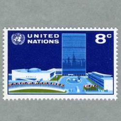 国連 1971年国旗と国連本部