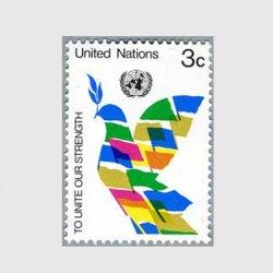 国連 1976年旗でデザインされたハト