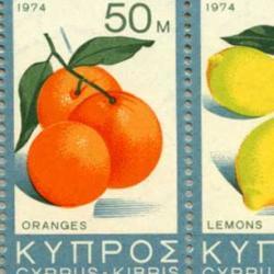 キプロス 1974年果実4種