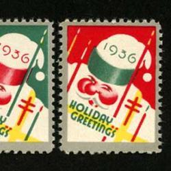 アメリカ 1936年クリスマスシール2種