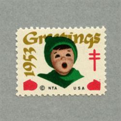 アメリカ 1953年クリスマスシール