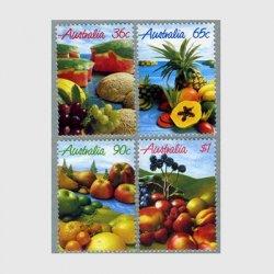 オーストラリア 1987年果物で描く風景4種
