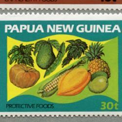 パプアニューギニア 1982年栄養4種