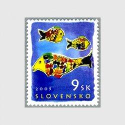 スロバキア 2005年児童画3匹の魚