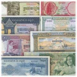 カンボジア紙幣8種