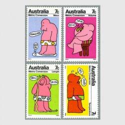 オーストラリア 1973年メートル法4種