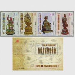 中国マカオ 2010年木彫りの神像
