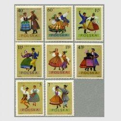ポーランド 1969年民族衣装8種
