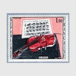 フランス 1965年デュフィ画「赤いバイオリン」