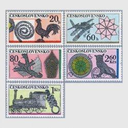 チェコスロバキア 1972年装飾の針金細工5種