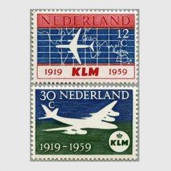 オランダ 1959年KLMオランダ航空40年2種