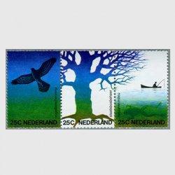 オランダ 1974年鳥と森林の保護協会75年3連