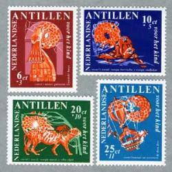 オランダ領アンチル諸島 1967年Nanzi物語4種