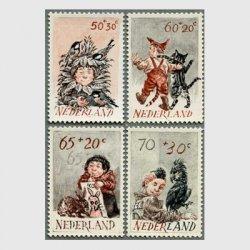 オランダ 1982年子供と動物4種