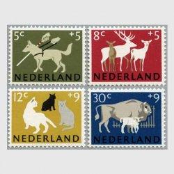 オランダ 1964年盲導犬など4種
