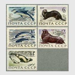 ソ連 1971年海洋哺乳類5種 ※難あり品