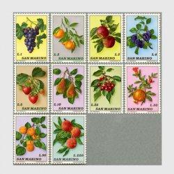 サンマリノ 1973年フルーツ10種
