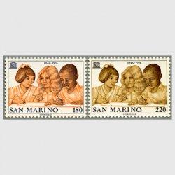 サンマリノ 1976年ユネスコ30年2種