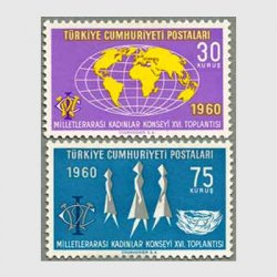 トルコ 1960年国際女性評議会2種