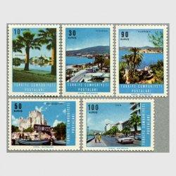 トルコ 1966年風景5種