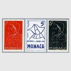 モナコ 1954年Frederic Ozanam死去100年3種