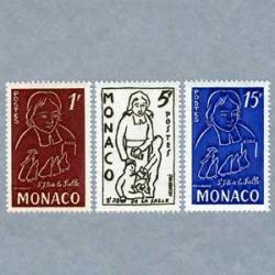 モナコ 1954年Jean Baptiste de la Salle3種