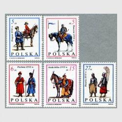 ポーランド 1983年兵士と馬5種