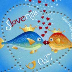 スロベニア 2009年ラブ切手