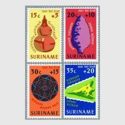 スリナム 1975年カリブインディアンの水瓶など4種