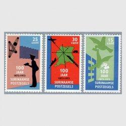 スリナム 1973年切手100年3種