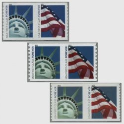 アメリカ 2010年自由の女神と星条旗コイル2連