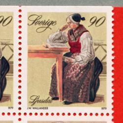 スウェーデン 1979年民族衣装切手帳