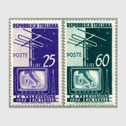 イタリア 1954年アンテナとテレビ2種