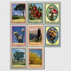 イタリア 1966-68年花・木・果物8種