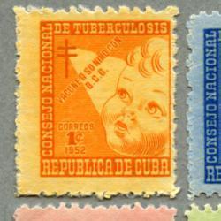 キューバ 1952年複十字4種