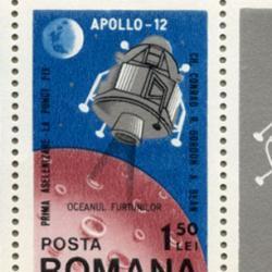 ルーマニア 1969年アポロ12号月面着陸小型シート