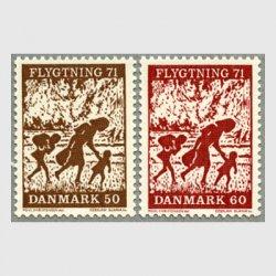 デンマーク 1971年難民救済の慈善キャンペーン2種