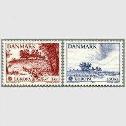 デンマーク 1977年ヨーロッパ切手Allinge, Ringsted2種