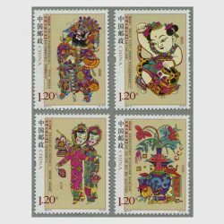 中国 2011年鳳翔木版年賀4種