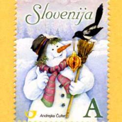 スロベニア 2006年クリスマス雪だるま