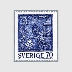 スウェーデン 1977年鉄ストーブの装飾