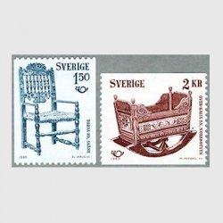 スウェーデン 1980年19世紀のゆりかごなど2種