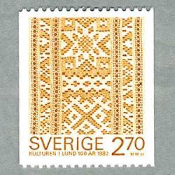 スウェーデン 1982年刺繍レースのリボン