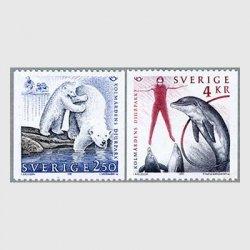 スウェーデン 1991年イルカショーなど2種