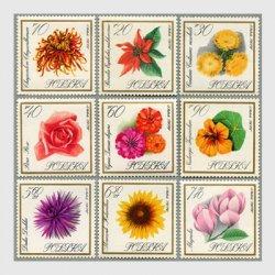 ポーランド 1966年花9種