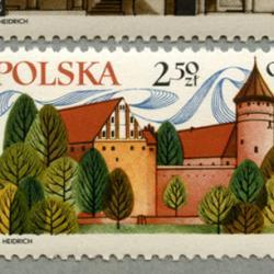 ポーランド 1971年コペルニクスタブ付き4種